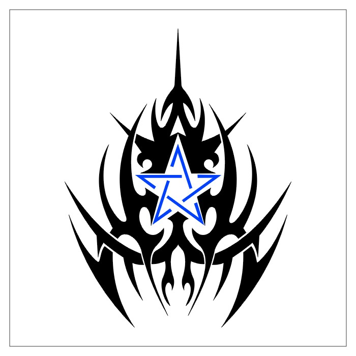 tetovaža pentagram tribal